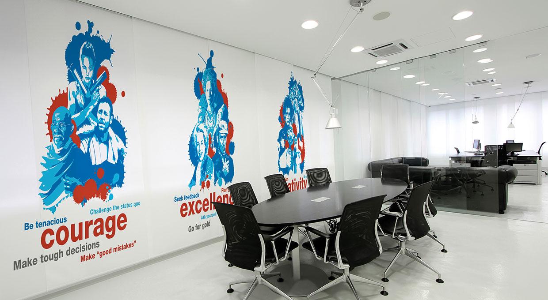 Office interior graphics design portfolio of - Graphic design for interior designers ...